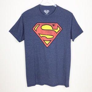 Big & Tall Superman Shield T-Shirt Blue